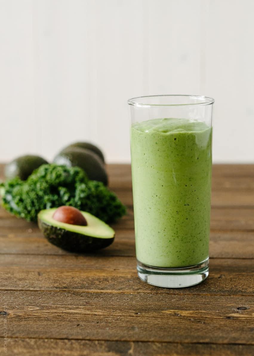 Avocado Kale Superfood Smoothie | www.kitchenconfidante.com
