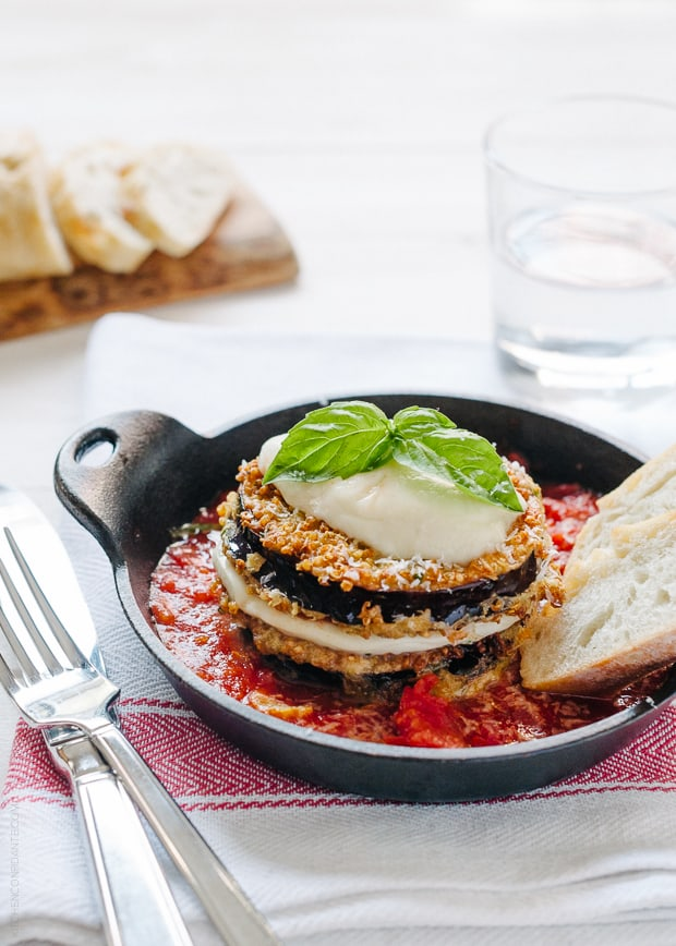 Quinoa Crusted Eggplant Parmesan | www.kitchenconfidante.com