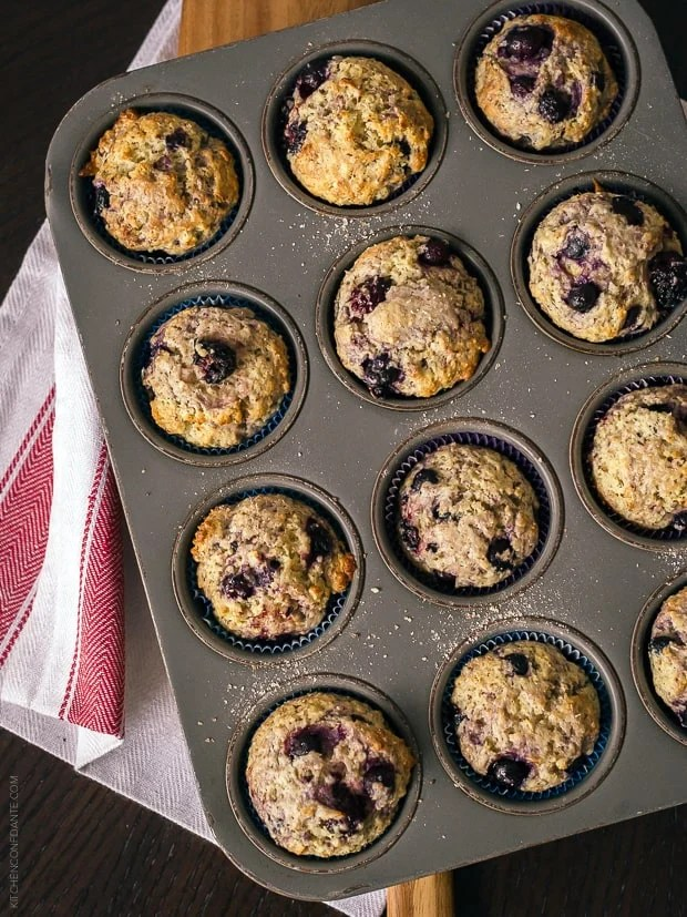 Berry Flaxseed Muffins | www.kitchenconfidante.com