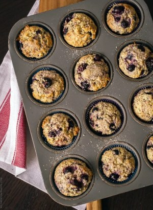 Berry Flaxseed Muffins | www.kitchenconfidante.com
