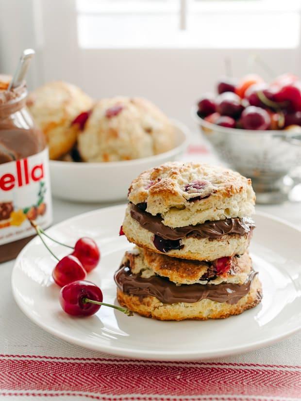 Cherry Nutella Scones | www.kitchenconfidante.com