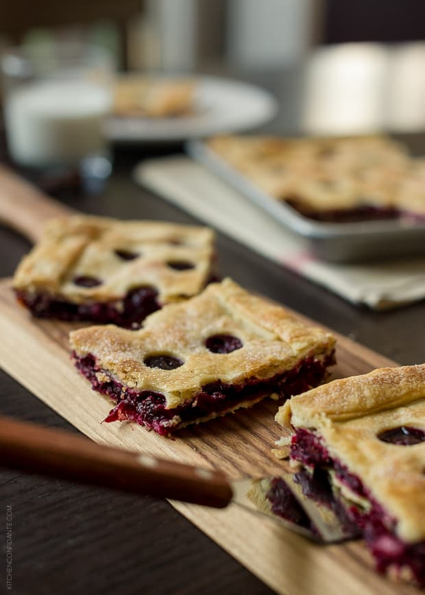 Cranberry Sauce Slab Pie | www.kitchenconfidante.com | Slices of slab pie are as fun to eat as they are to make!