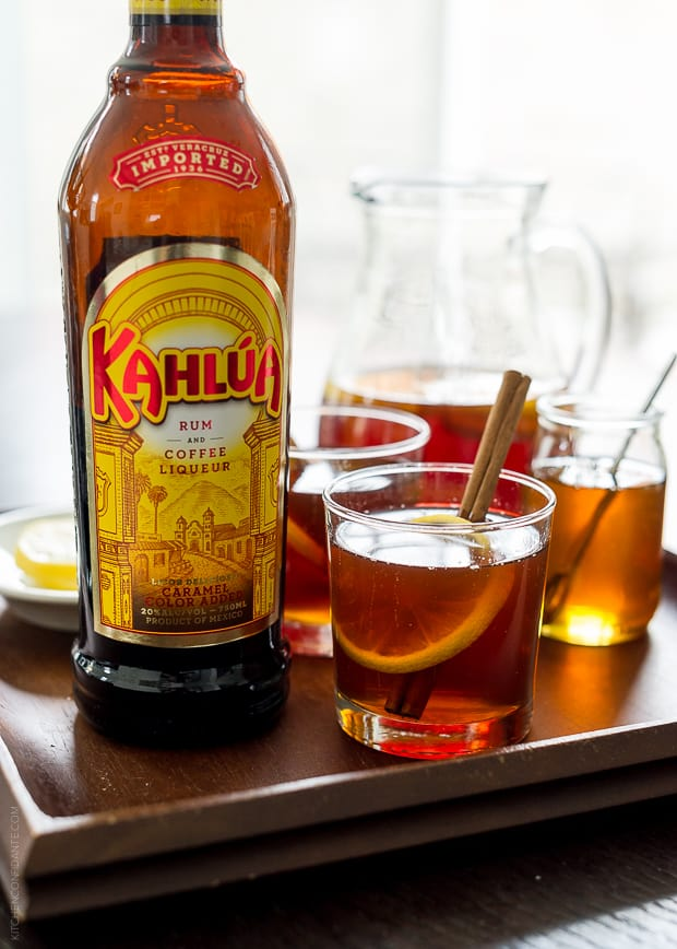 Chai Hot Toddy | www.kitchenconfidante.com | Warm up with a hot toddy made with Kahlúa!
