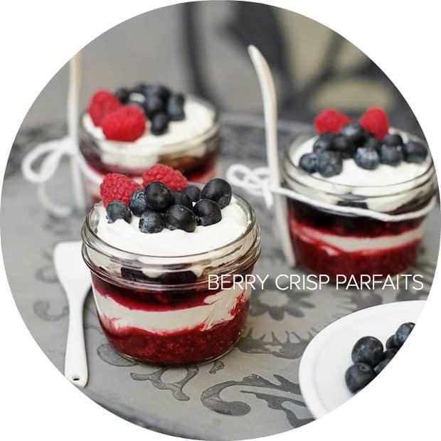 Berry Crisp Parfaits | www.kitchenconfidante.com