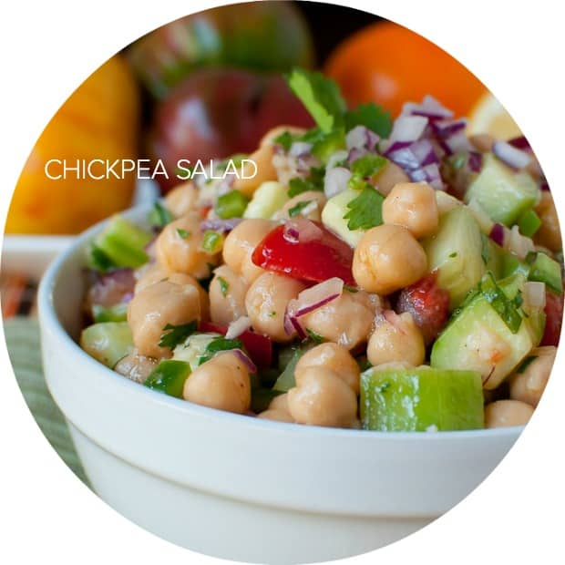 Chickpea Salad | www.kitchenconfidante.com
