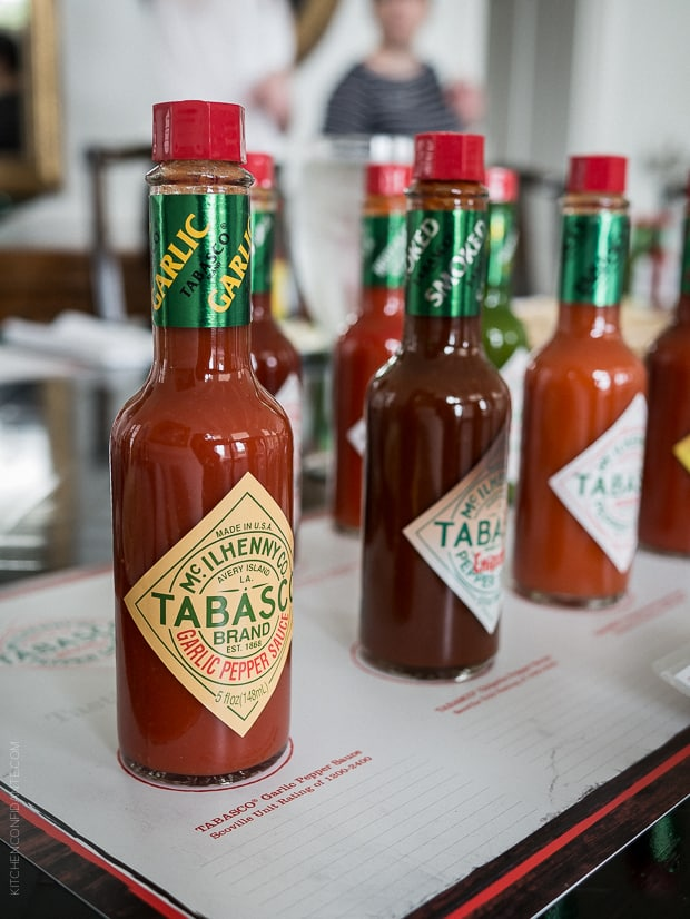 Scenes from Avery Island and Tabasco   www.kitchenconfidante.com   Unique flavors to the Tabasco Family of Flavors include their Garlic Pepper Sauce.