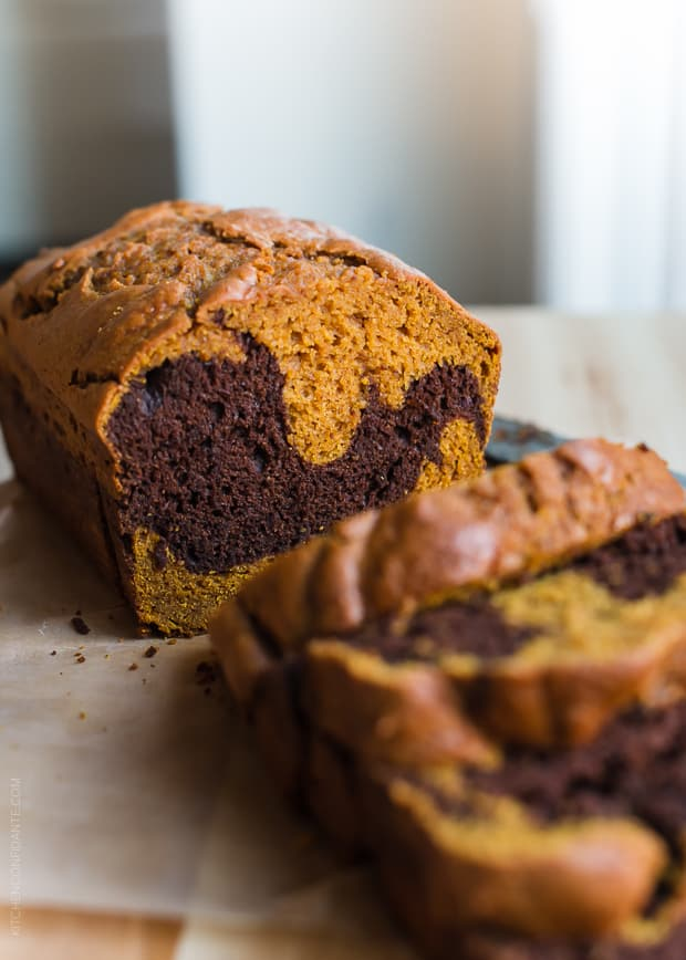 The only thing better than pumpkin bread is Chocolate Marble Pumpkin Bread!