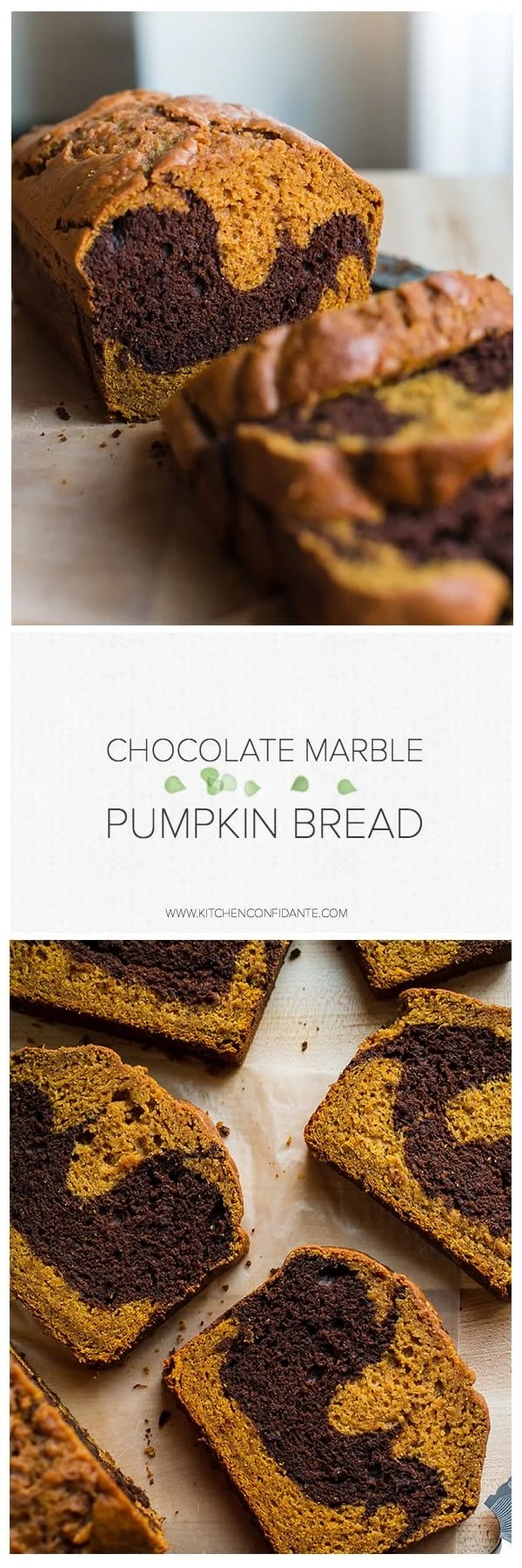 The only thing that can make pumpkin bread better is a swirl of chocolate. Try this simply delicious recipe for Chocolate Marble Pumpkin Bread!