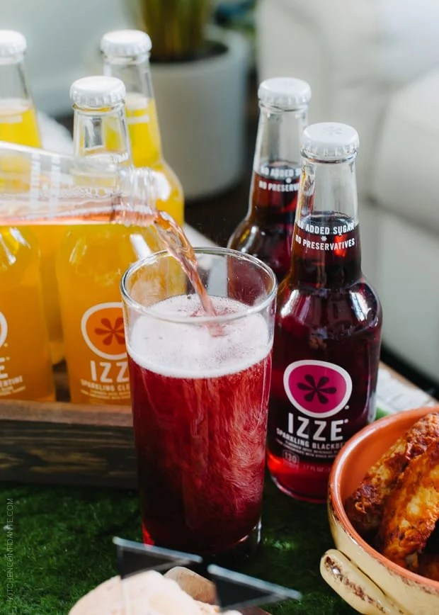 Roasted Eggplant Falafel Bites pair perfectly with Izzy drinks!