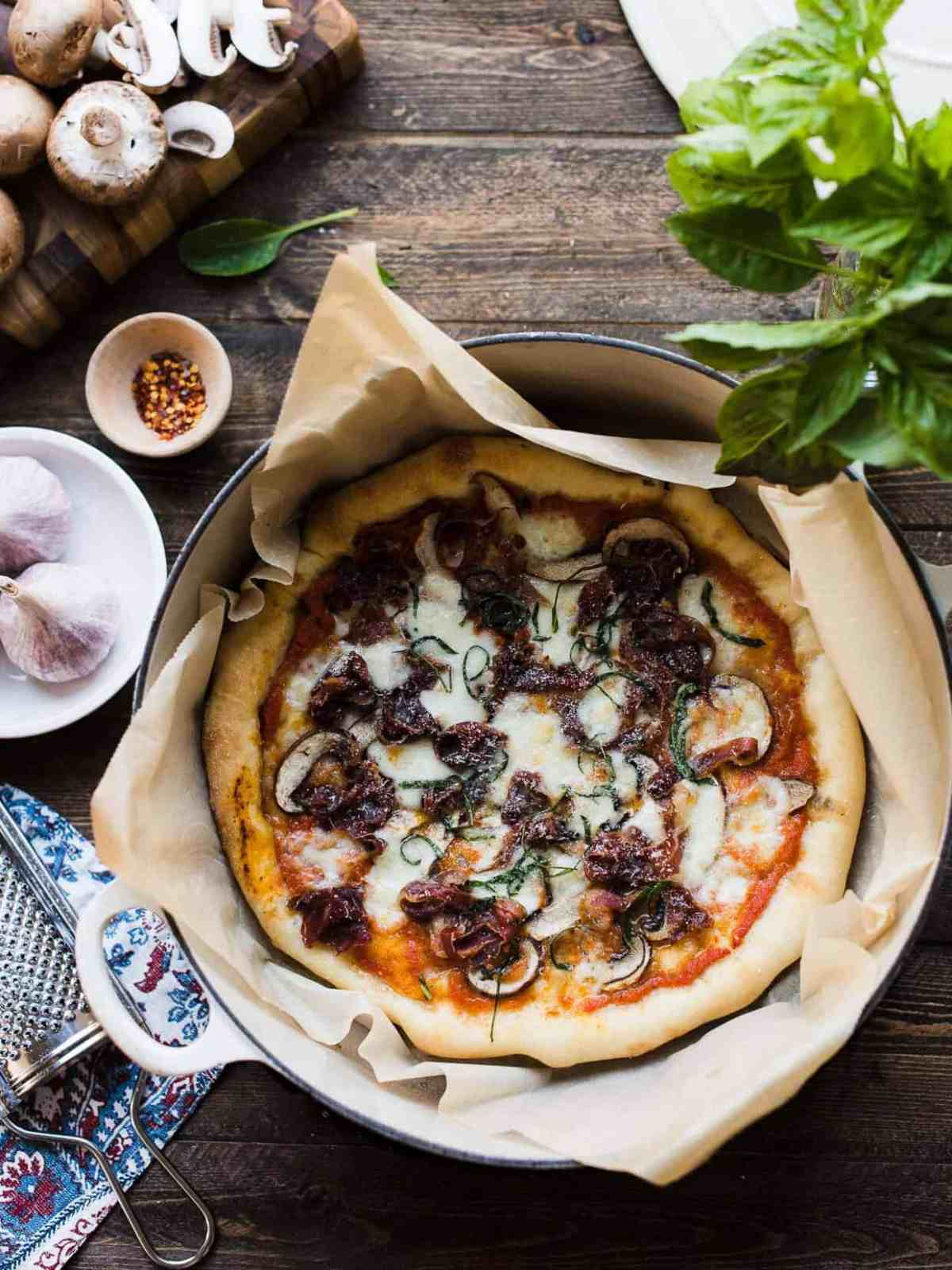 If you have a Dutch oven, you'll find that it's the secret to perfect homemade pizza!