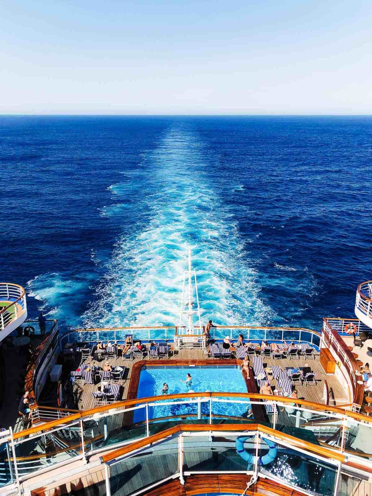The on board view while cruising the Mexican Riviera with Princess Cruises.
