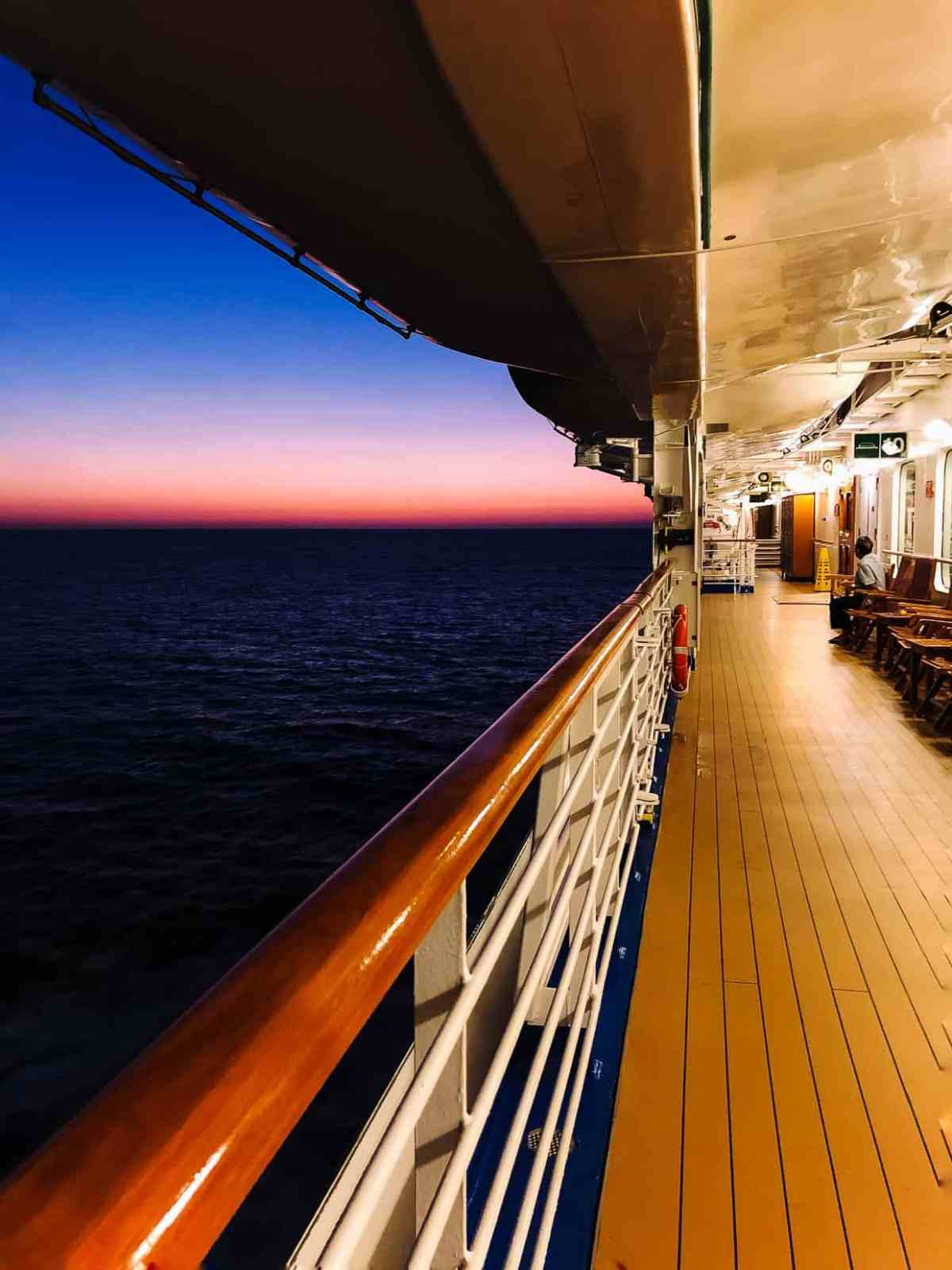 View from on board the Ruby Princess while cruising the Mexican Riviera.