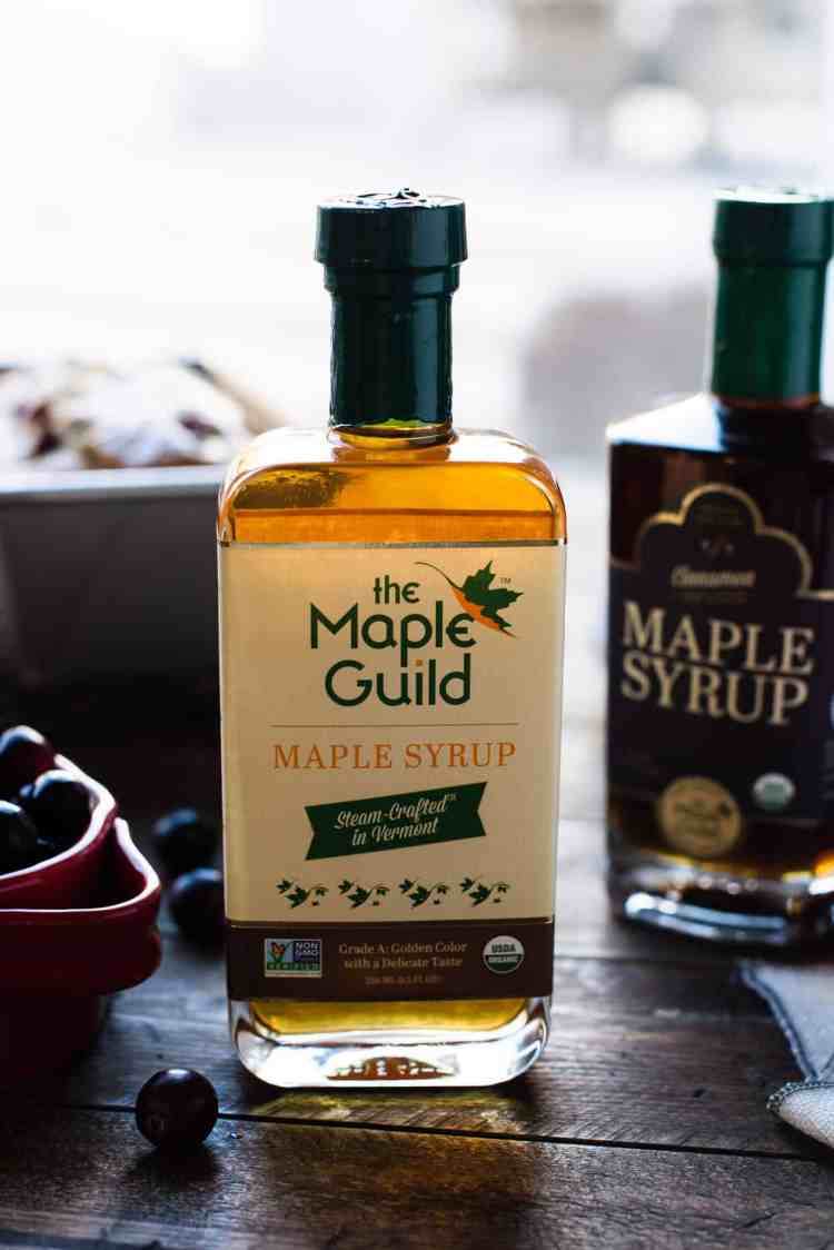 The Maple Guild Maple Syrup for a recipe for Maple-Glazed Cranberry Bread.