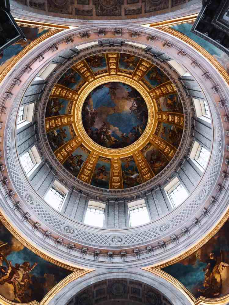 Dome of Napoleon's Tomb in Paris France
