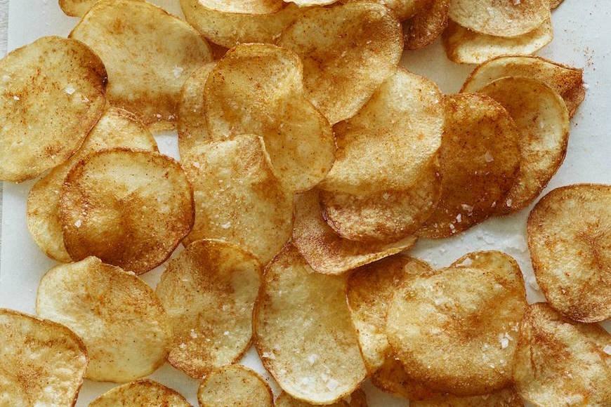 Chili Lime Baked Potato Chips
