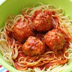 One-Pan Spaghetti Meatballs