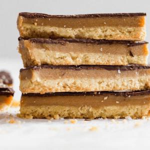 Dark Chocolate Millionaire's Shortbread