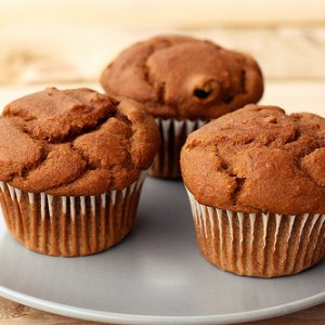 Simple, One Bowl Recipe for Gingerbread Muffins.