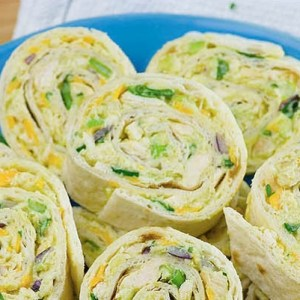 Chicken Avocado Salad Roll Ups