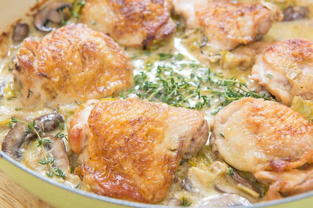 Chicken and Potatoes with Garlic Parmesan Cream