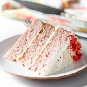 Strawberry Cake With Strawberry Buttercream