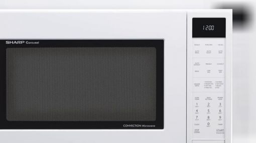 sharp smc1585bw 1 5 cu ft convection microwave oven