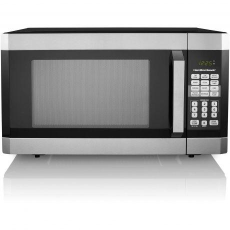 hamilton beach em145aak p 1 6 cu ft digital microwave oven