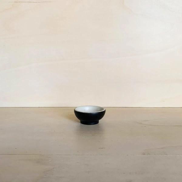 Kitchen Dates – tigela mini circular (preto)