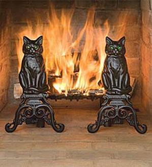 Cat Andirons