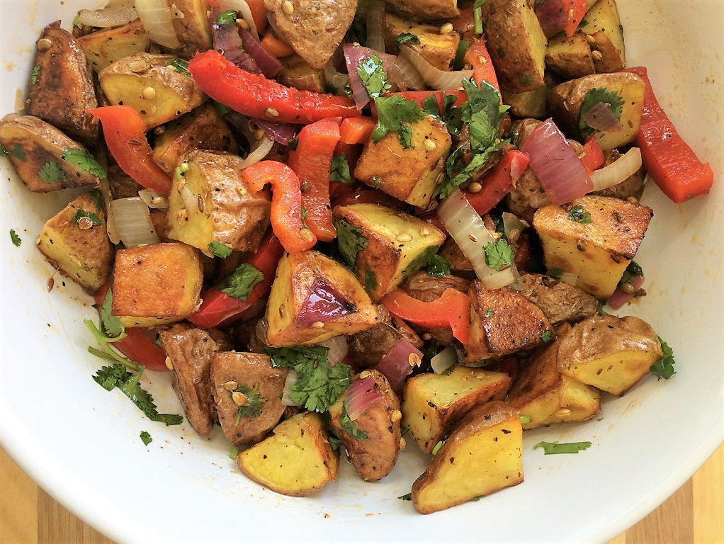 Indian Spiced Roasted Potato Salad