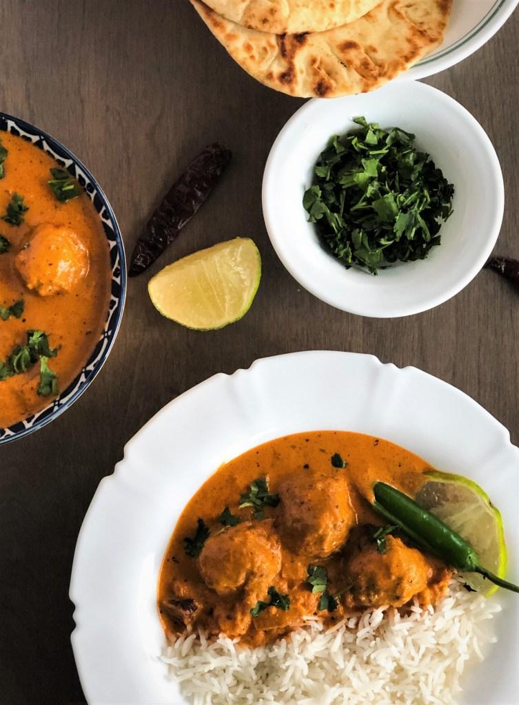 Malai Kofta Meatless Meatballs In Creamy Indian Sauce The Kitchen Docs