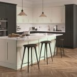 Solid Wood Dove Grey and Graphite Kitchen