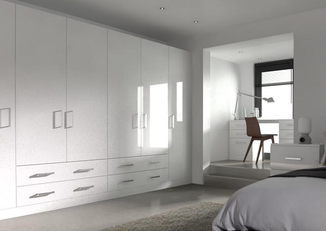 Lewes High Gloss White Bedroom Doors