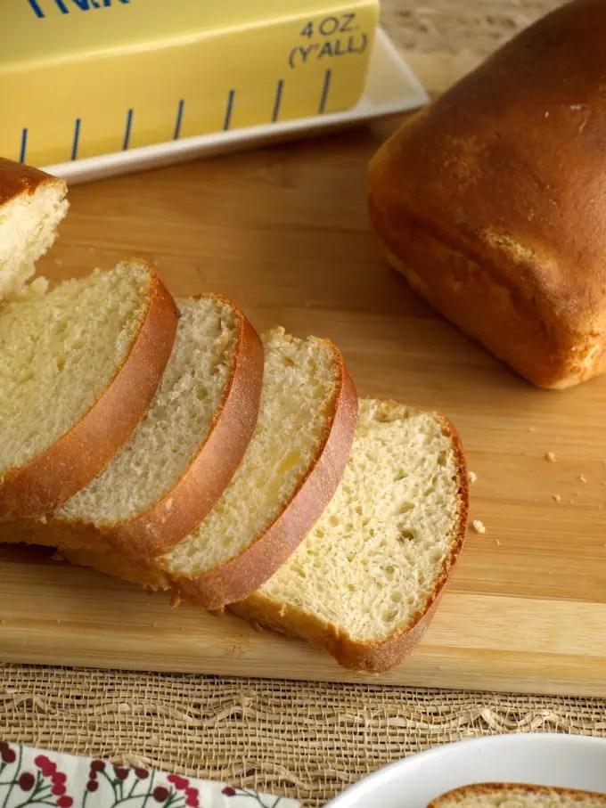 A close up of sliced Portugues bread
