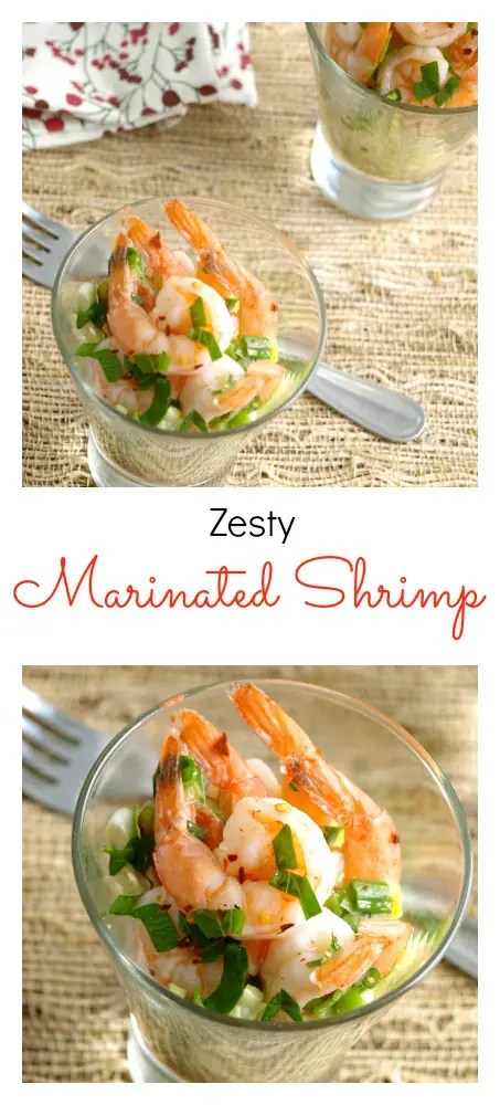 Zesty Marinated Shrimp makes a great appetizer or first course and is wonderful on top of a salad with the sauce as a vinaigrette.