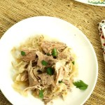 Crock Pot Braised Pork and Sauerkraut ribs are fall apart delicious and tender and combined with the sauerkraut made for a very satisfying fall meal.