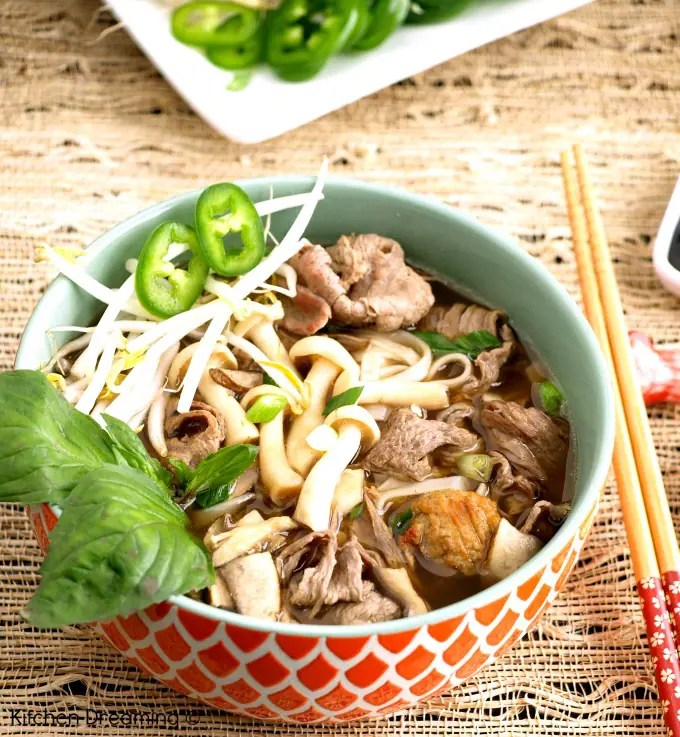 Easy beef pho has flavors that are fresh and bright and makes for a perfect lunch or dinner.