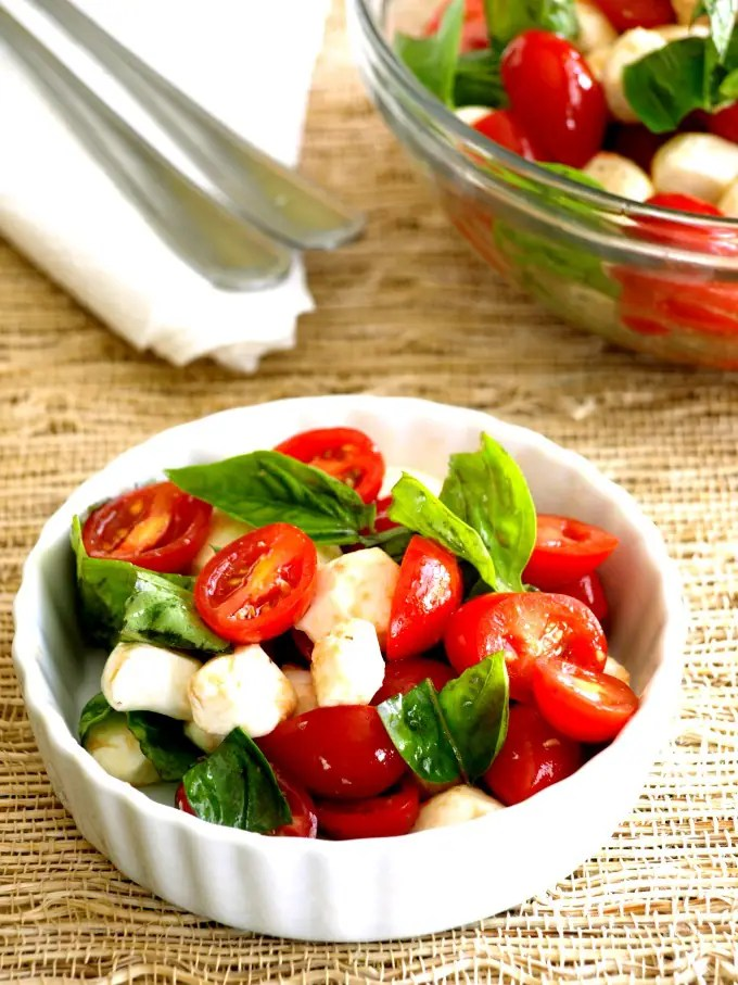 A bowl of Italian Caprese Salad