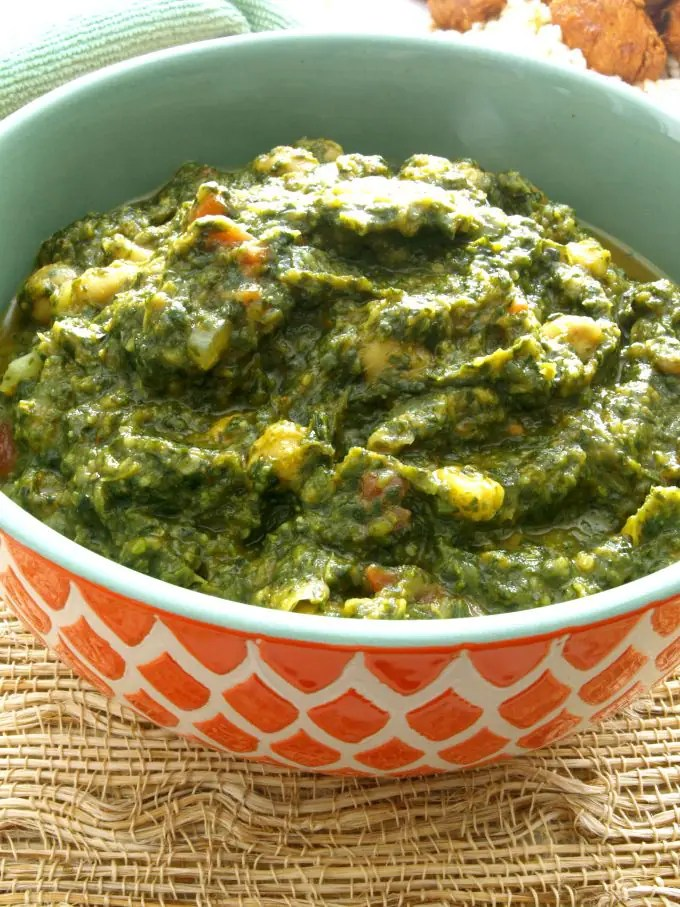 Palak Chole --One of the best things about Palak Chole is that it can be prepared both as a side or main (Vegan or vegetarian) meal. It is also Gluten Free.