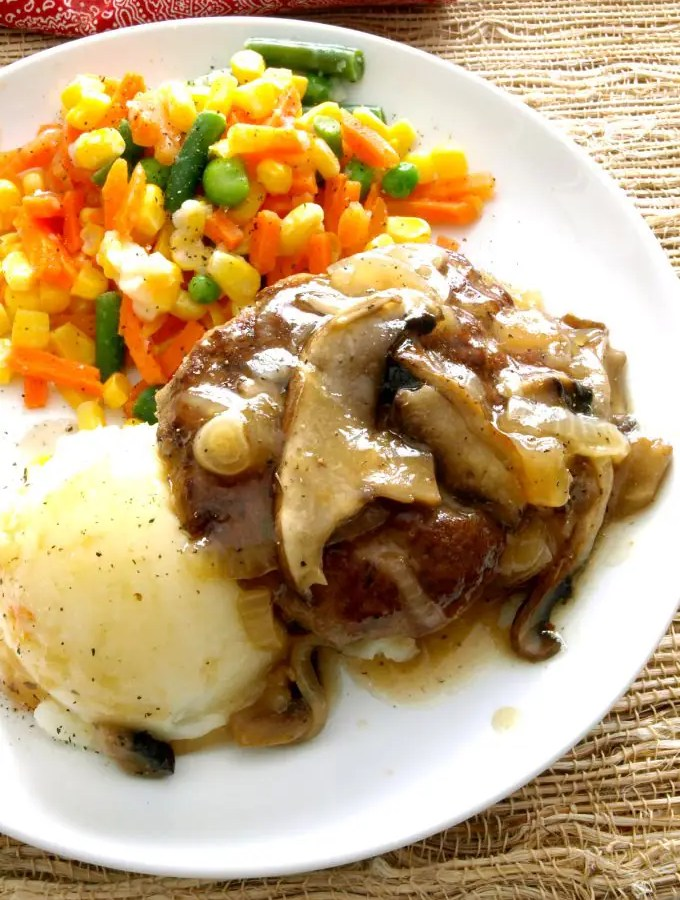 """Let this one-skillet Salisbury Steak take a little of the """"hectic"""" out of your day. It's ready in just about 30 minutes."""
