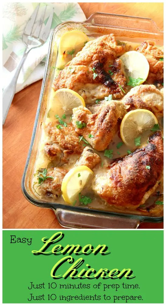 Easy Baked Lemon Chicken makes a great weeknight dish that spends most of it's cooking time unsupervised in the oven