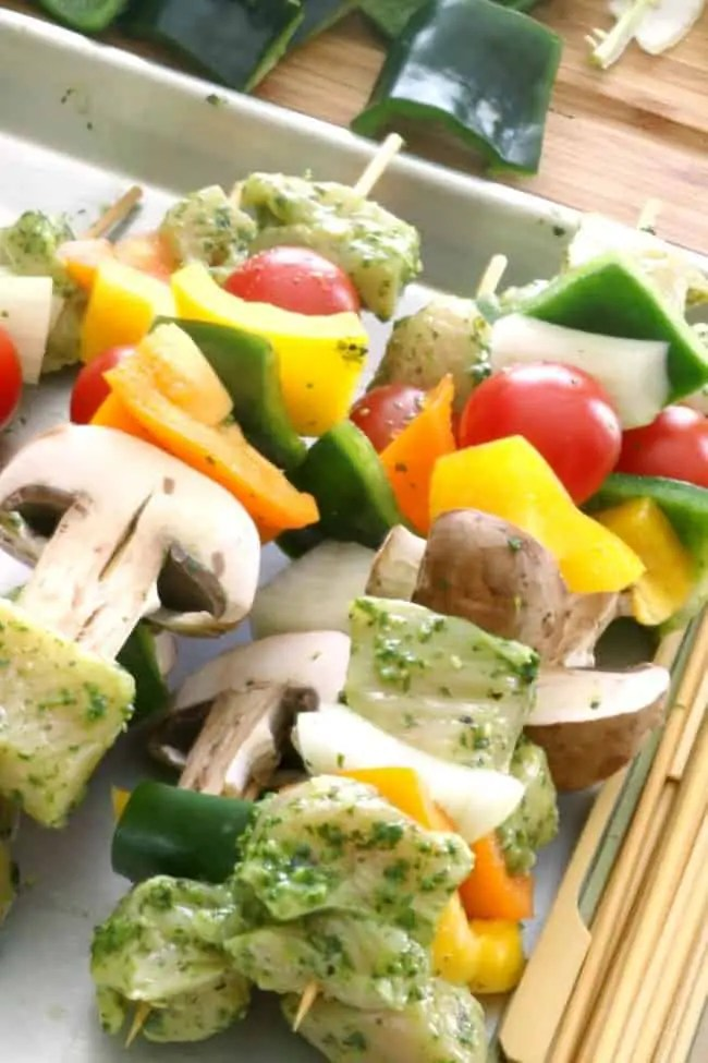 Grilled cilantro lime chicken skewers are healthy for you and perfect for summer grilling season. Serve them with tortilla shells or a side of Mexican rice