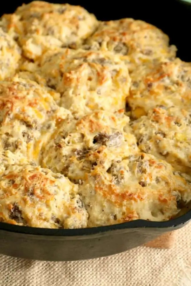 Loaded BReakfast biscuits made with homemade bisquick.