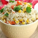 This quick and easy Garden Vegetable Rice is a favorite side dish for our family dinners. We can use any fresh or frozen vegetables we have on hand and tailor it to fit the flavors or style of our meal plan. It's a very simple dish using ingredients probably already in your pantry.