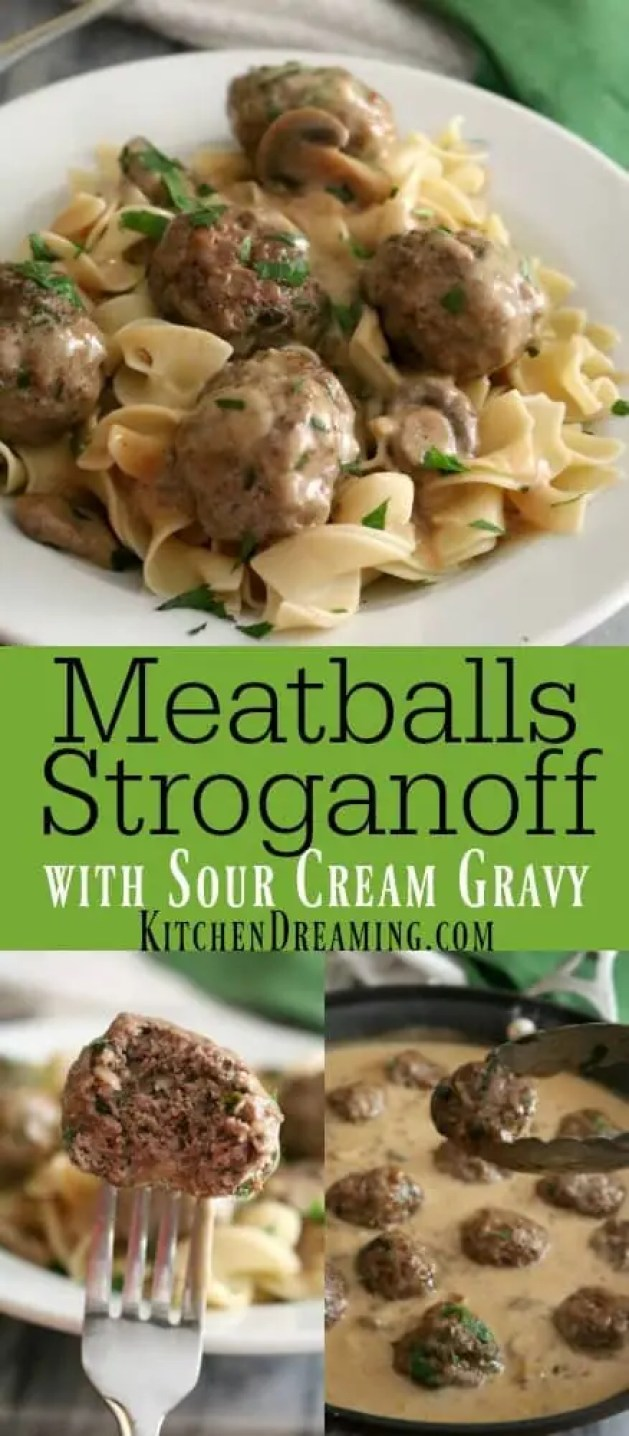 Meatballs Stroganoff