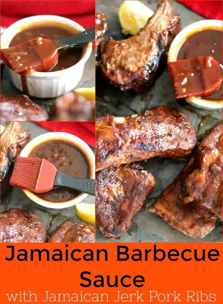 a pinnable image of Jamaican barbecue sauce.