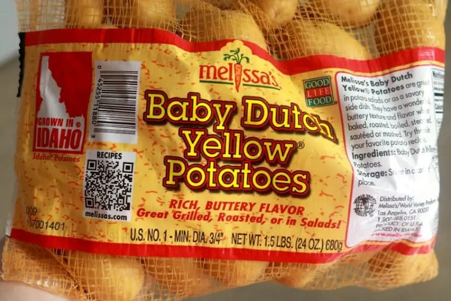 A photo of a baby of Baby Dutch Yellow potatoes.