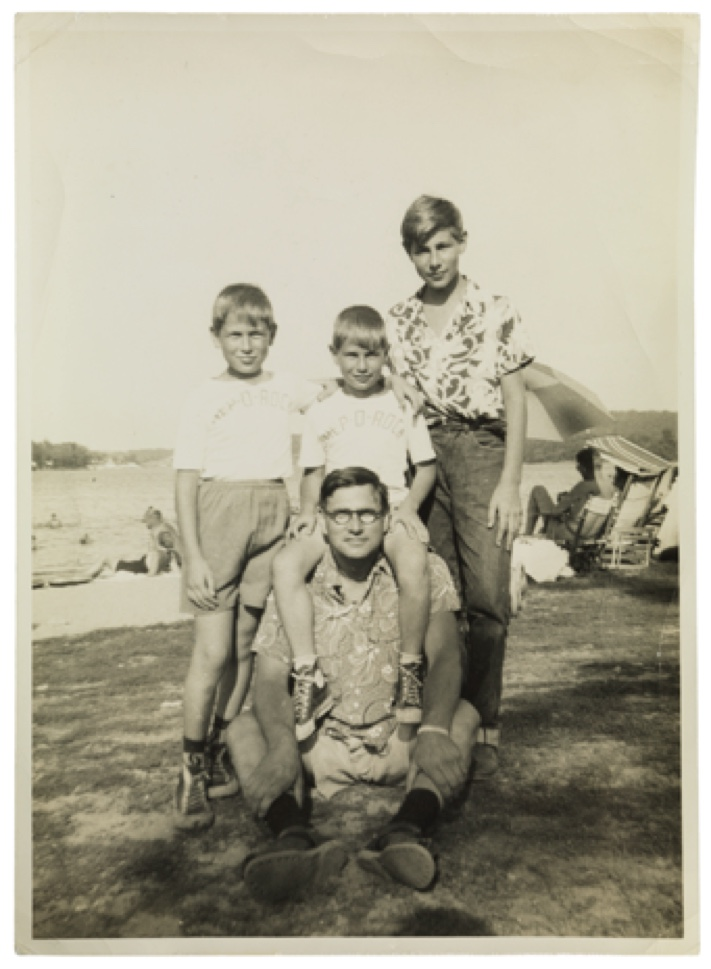 Walter Brill and sons in USA, around 1957