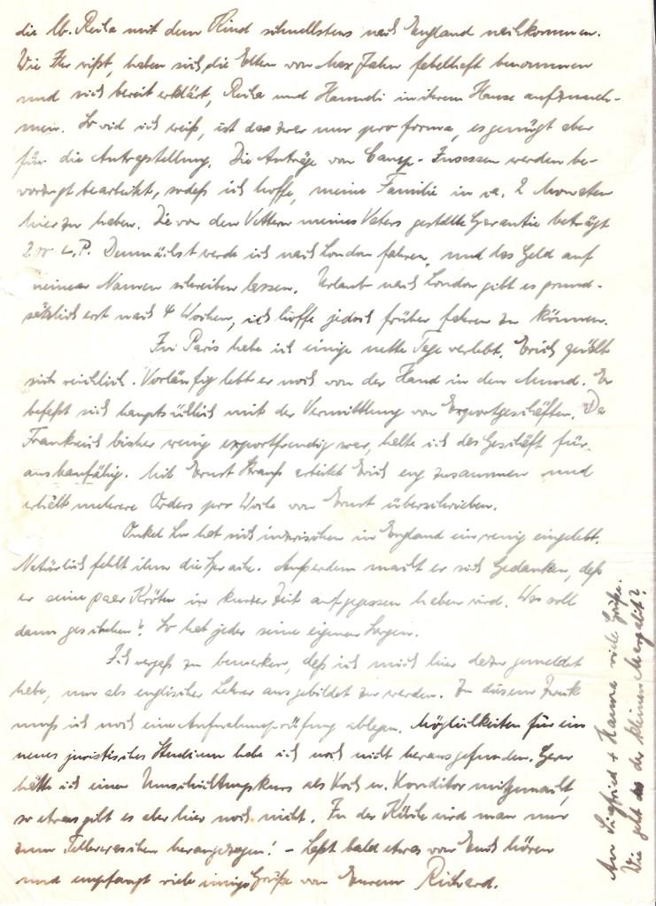Richborough transit camp, Richard Cohn, Letter, 19 July 1939, page 2