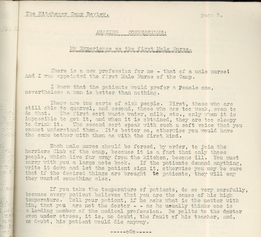 Kitchener Camp Review, April 1939, page 5, top